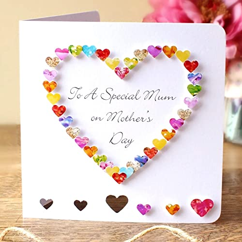 hand made mothers day card to a special mum colourful 3d