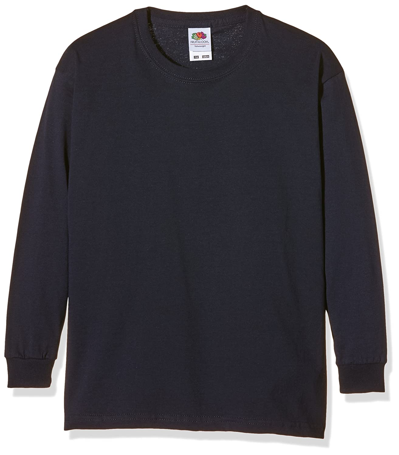 Fruit of the Loom M/ädchen Valueweight Long Sleeve T-Shirt