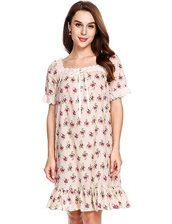 Avidlove Damen Kleid Nachthemd Schlafanzüge Nachtwäsche Negligees ...