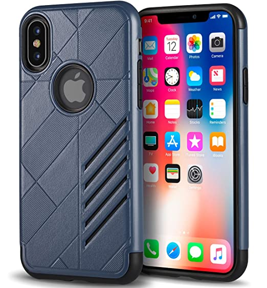 premium selection e7c76 3e681 KitchenBros Best iPhone X Case Premium Thin Slim Fit 3in1 3D Hard Plastic  Cover 360 Full Body Gravity Protection Drop Shock Resistant Safe Life Proof  ...