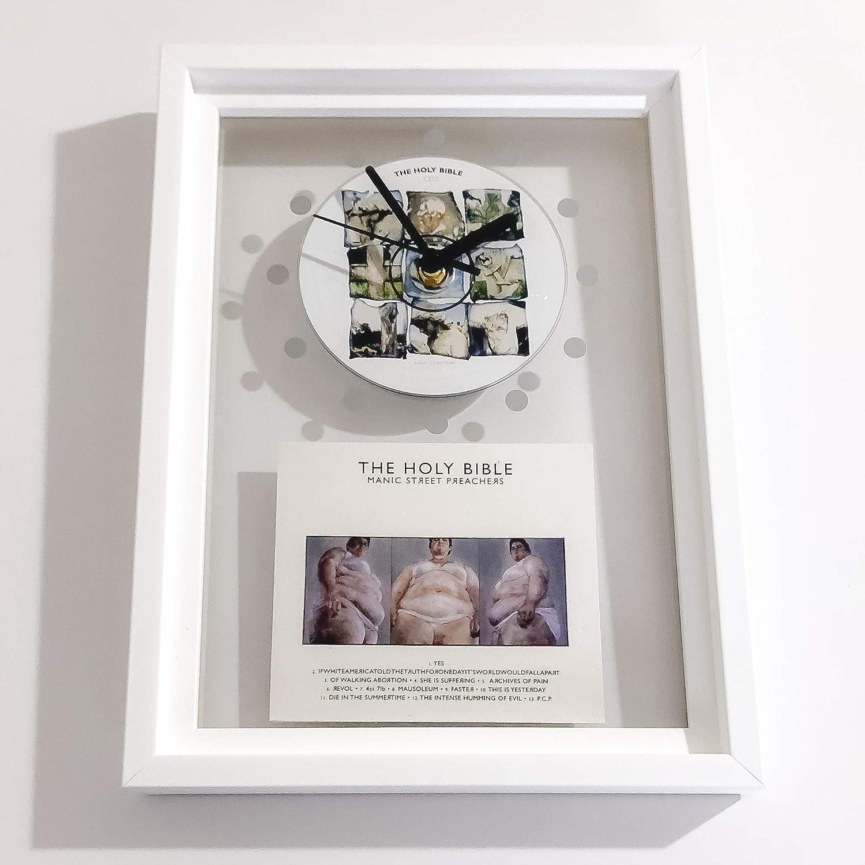 MANIC STREET PREACHERS - The Holy Bible: FRAMED CD ART CLOCK/Exclusive Design