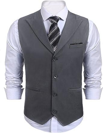Men Double Breasted Waistcoat Suit Formal Wedding Business Blazer Tuxedo Vest