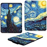 Fintie Kindle Paperwhite Custodia - Case Cover Custodia Ultra Sottile per Amazon Nuovo Kindle Paperwhite (Adatto Tutte le versioni: 2012, 2013, 2014 e 2015 Nuovo 300 ppi), Starry Night