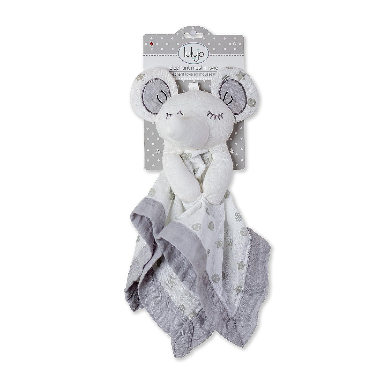 Lulujo 0628233459046 Lovies Cuddly Blanket Elephant