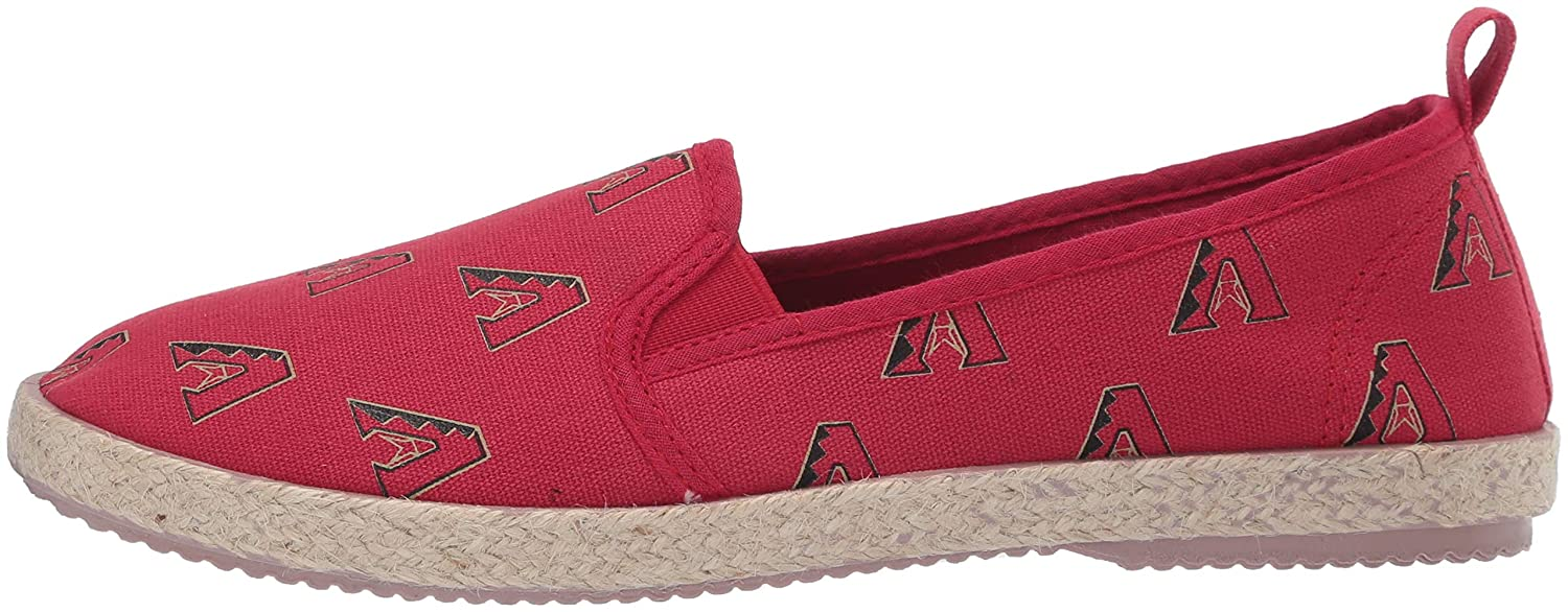 FOCO MLB Arizona Diamondbacks Womens Espadrille Canvas Shoes Large Team Color