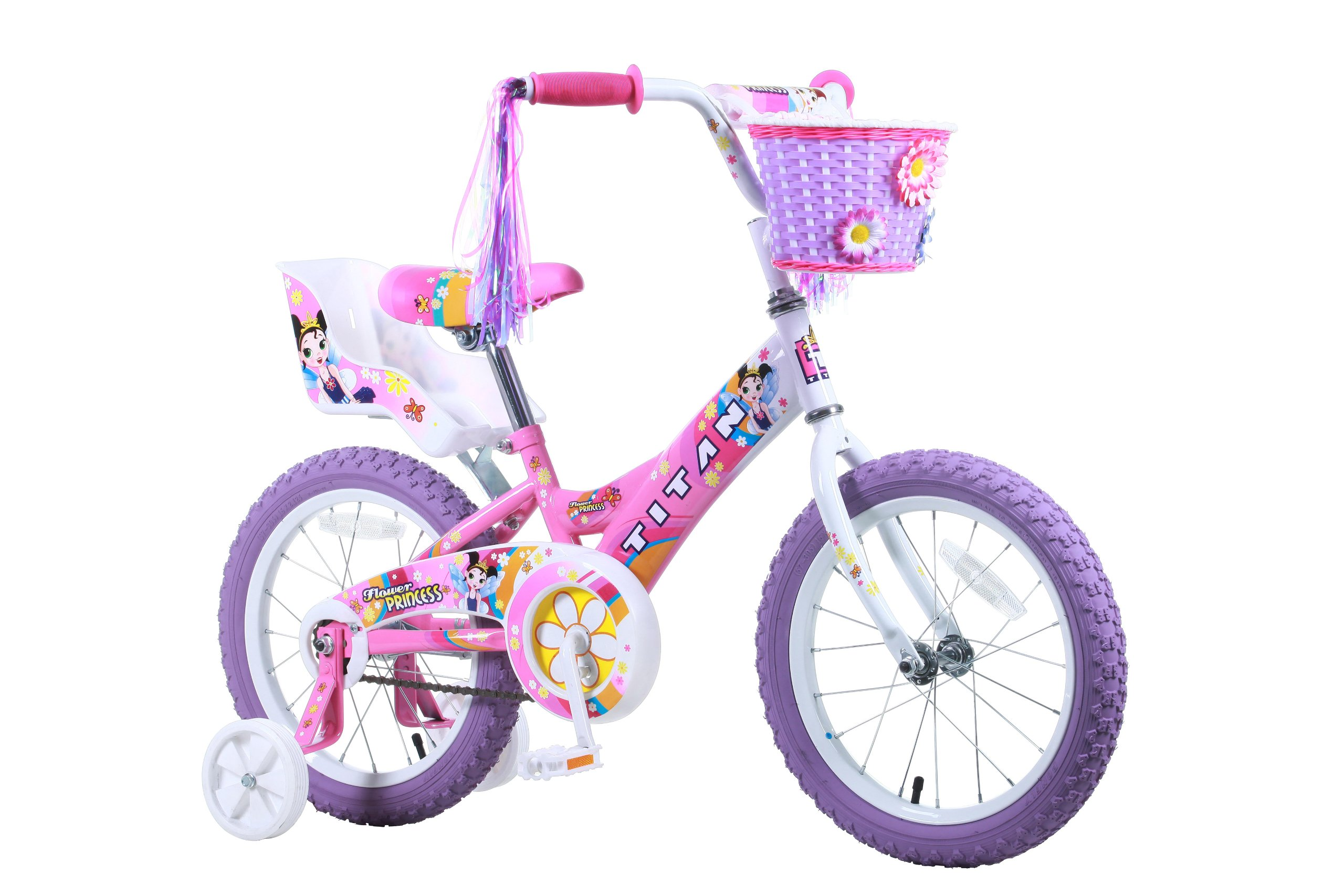 Titan Girl's Flower Princess BMX Bike, Pink, 16-Inch by Titan