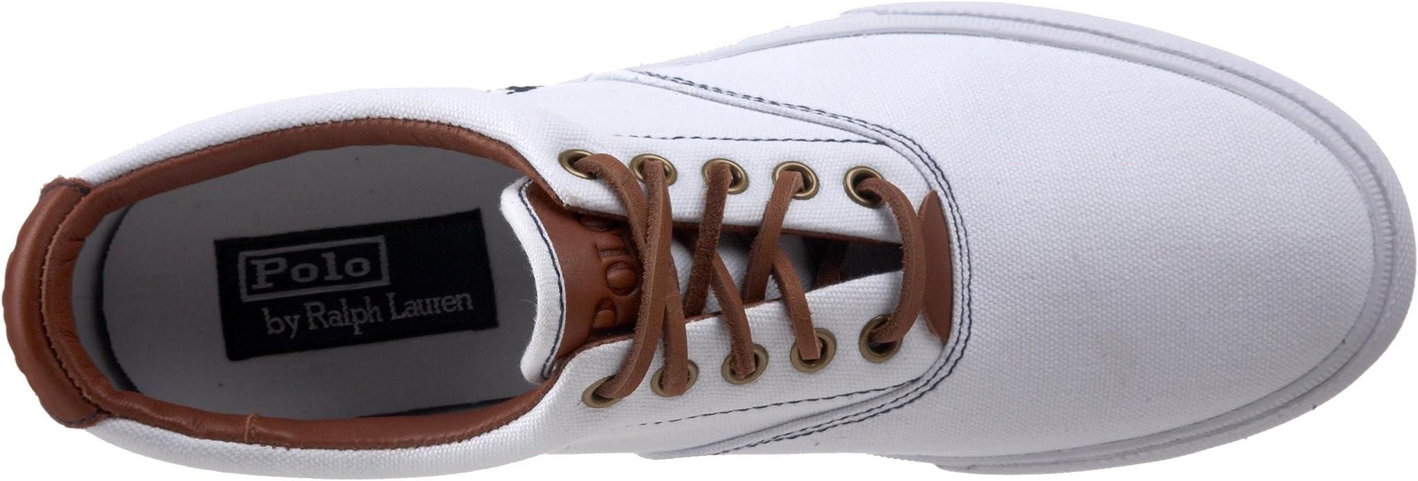 Ralph Lauren Vaughn White Mens Trainers Size 41 EU: Amazon.es ...