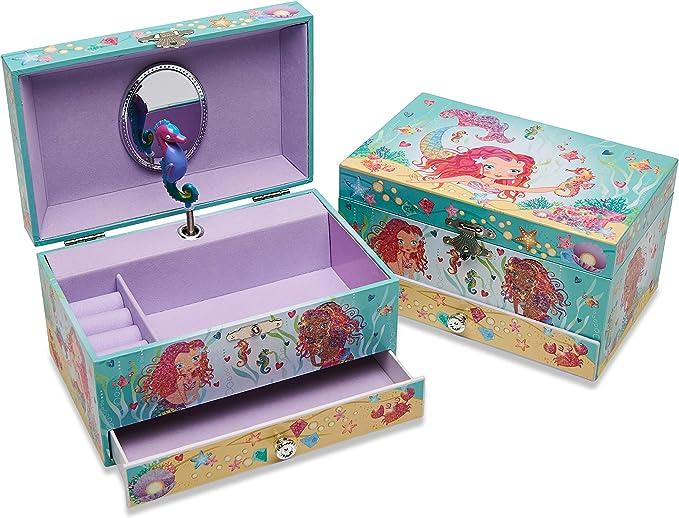 Lucy Locket – Joyero Musical Infantil de Sirenas Soporte para Anillo – Joyero Musical con Purpurina para niños – Caja joyero Musical: Amazon.es: Juguetes y juegos