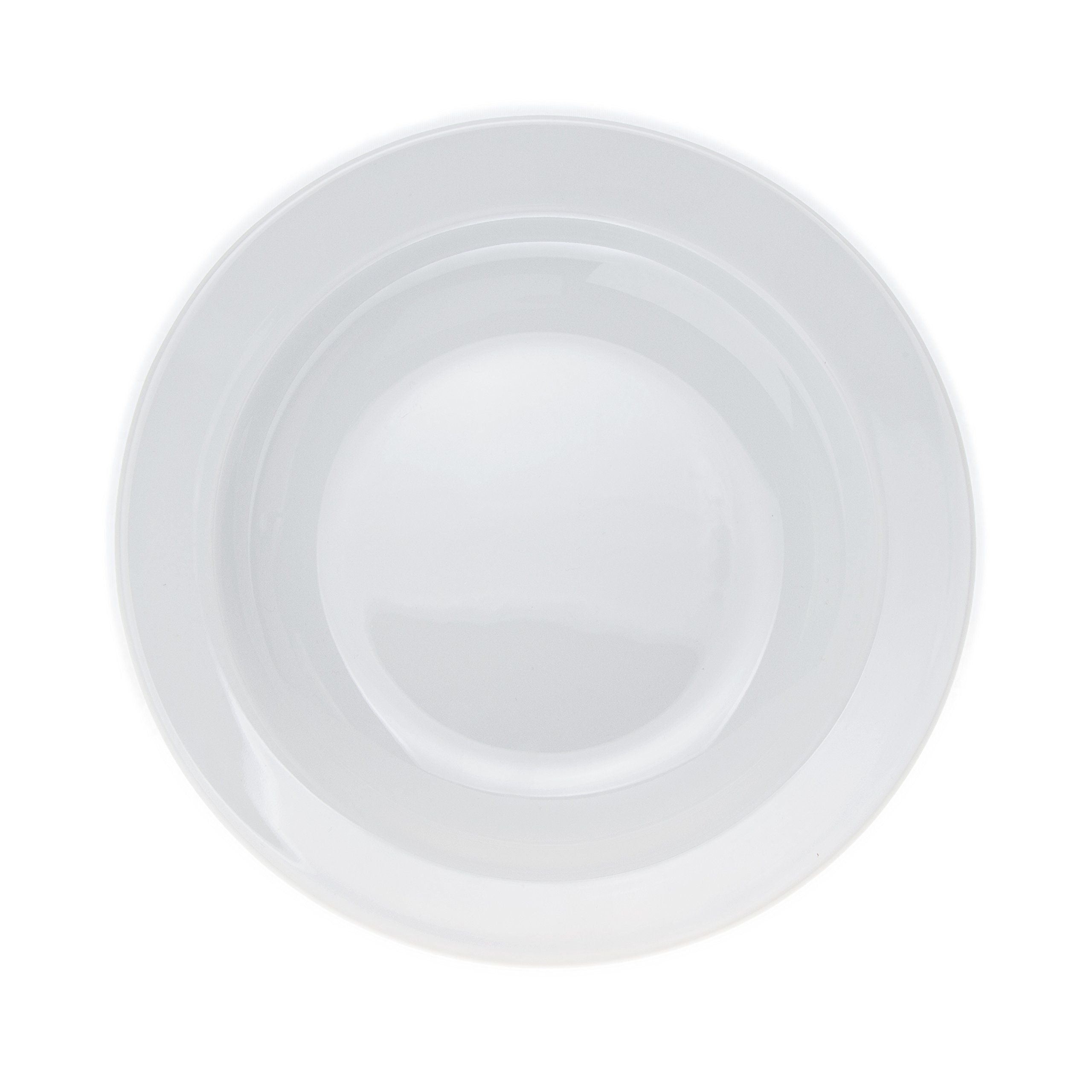4-Piece Pasta/Salad/Soup/Serving PLATES Set, White Porcelain, Restaurant&Hotel Quality, size 9''