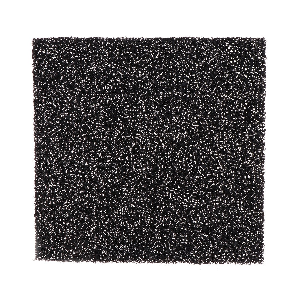 Xuniu 5 pi/èces Filtre /à air /éponge en Mousse de Charbon Actif Tampon en Feuille impr/égn/é Noir 13cmx13cmx1cm