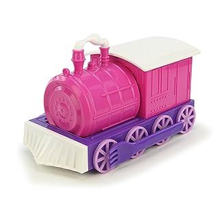 KidsFunwares Chew-Chew Train Kids Dinnerware Set with Utensils, Pink