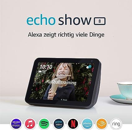 Adjustable Stand mit Rutschfester Basis Schwarz Nedoz Verstellbarer St/änder f/ür Echo Show8 und Echo Show 5