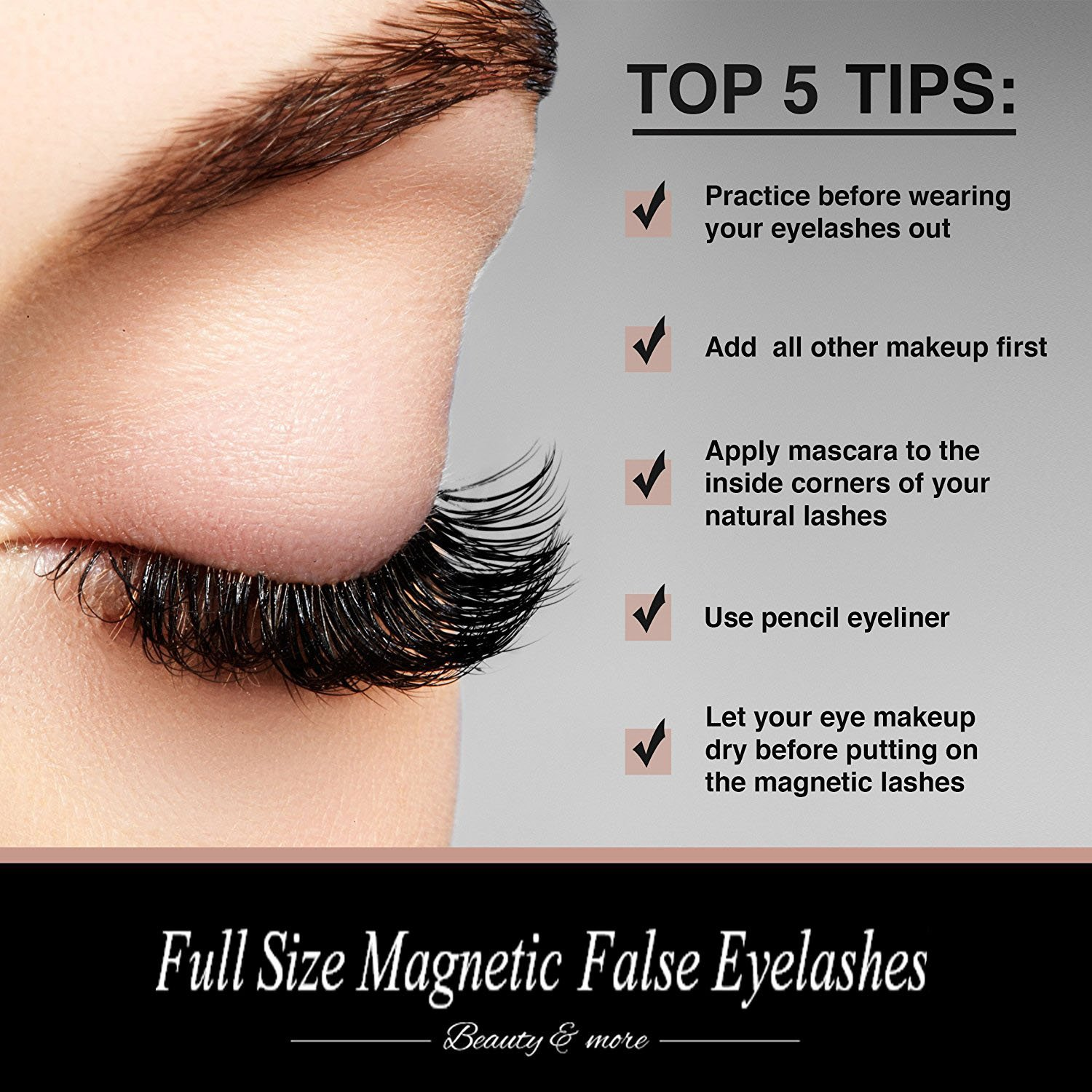 Amazon Longer Magnetic Fake Eyelashes No Glue 3d Reusable