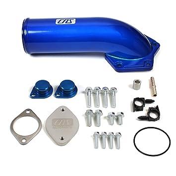 EGR Valve Delete Kit /& Intake Elbow For 08-10 Ford 6.4L Powerstroke Diesel Red