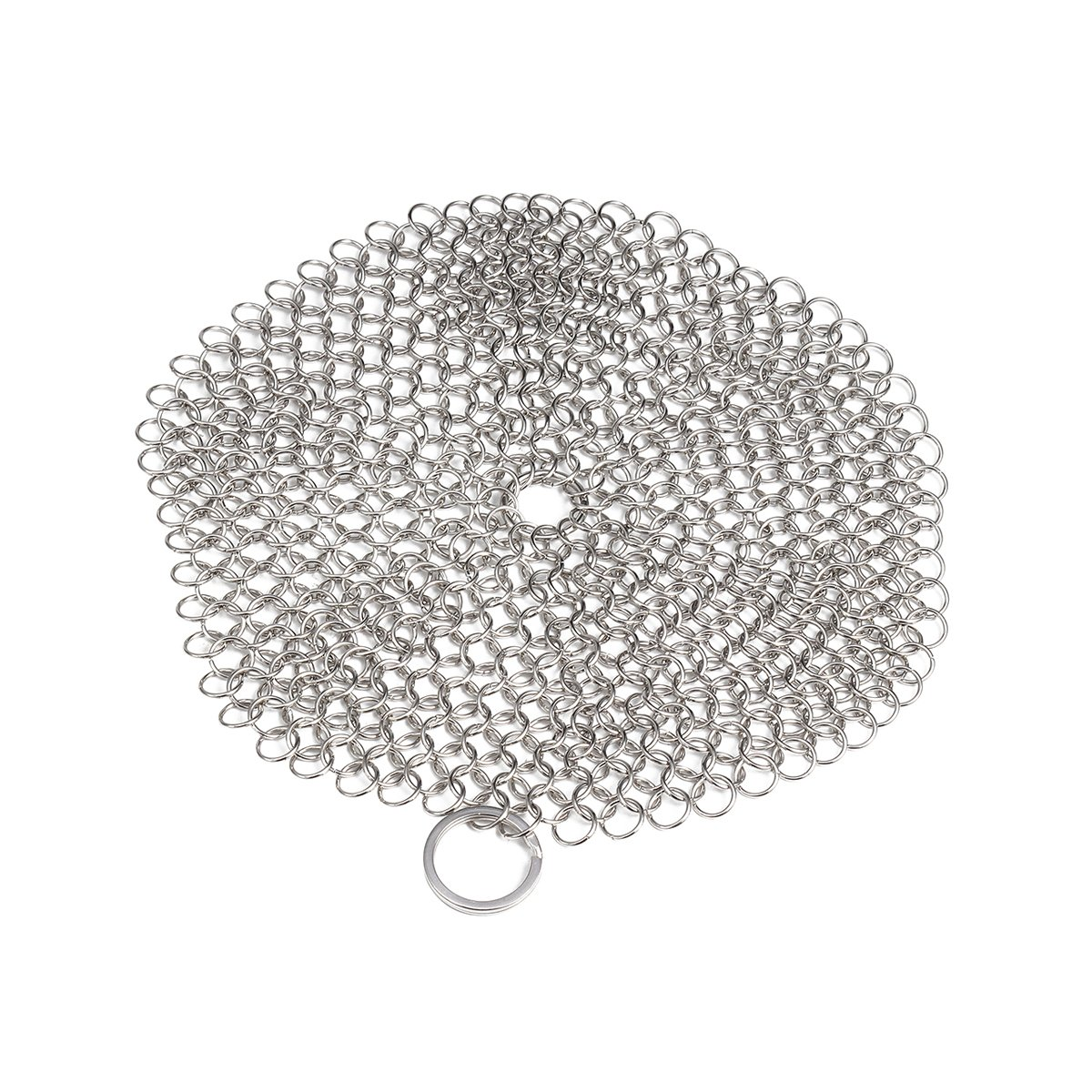 Cast Iron Cleaner,ステンレススチールChainmail Scrubber調理器具Cleaner for Skillet、Wok、ポット、パン はように錆びませんスチールウール ホーム&キャンプ 調理器具、Seasoning A0W0E0D0IQWX B07C89TCLH Round: 8 Cm