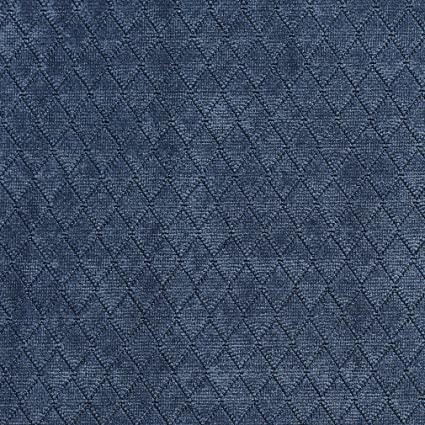 Amazon Com A919 Blue Diamond Stitched Velvet Upholstery Fabric By