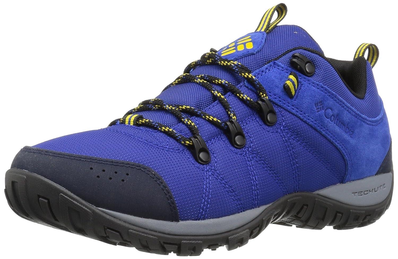 Columbia Peakfreak Venture Lt, Zapatillas de Deporte Exterior para Hombre 44.5 EU|Azure, Electron Yellow