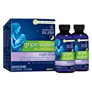 Mommy's Bliss Night Time Gripe Water Double Pack for Baby's Tummy Trouble - Relieves Occasional Infant Stomach Discomfort from Gas, Colic, Fussiness, Hiccups - 8 Fl Oz