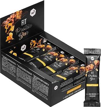 nu3 Fit Protein Bar – Barritas de proteína (12 x 50g) - Barras proteicas sin aceite de palma – Solo 206 calorías – con whey protein, soja y colágeno ...