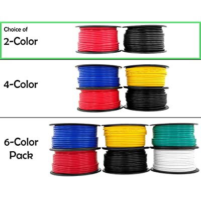 12 Gauge Copper Clad Aluminum Low Voltage Primary Wire 100 ft Red & Black (200 feet Total) for 12V Automotive Trailer Light Car Audio Stereo Harness Wiring (Also in 4 or 6 Color Combo): Automotive [5Bkhe1510951]