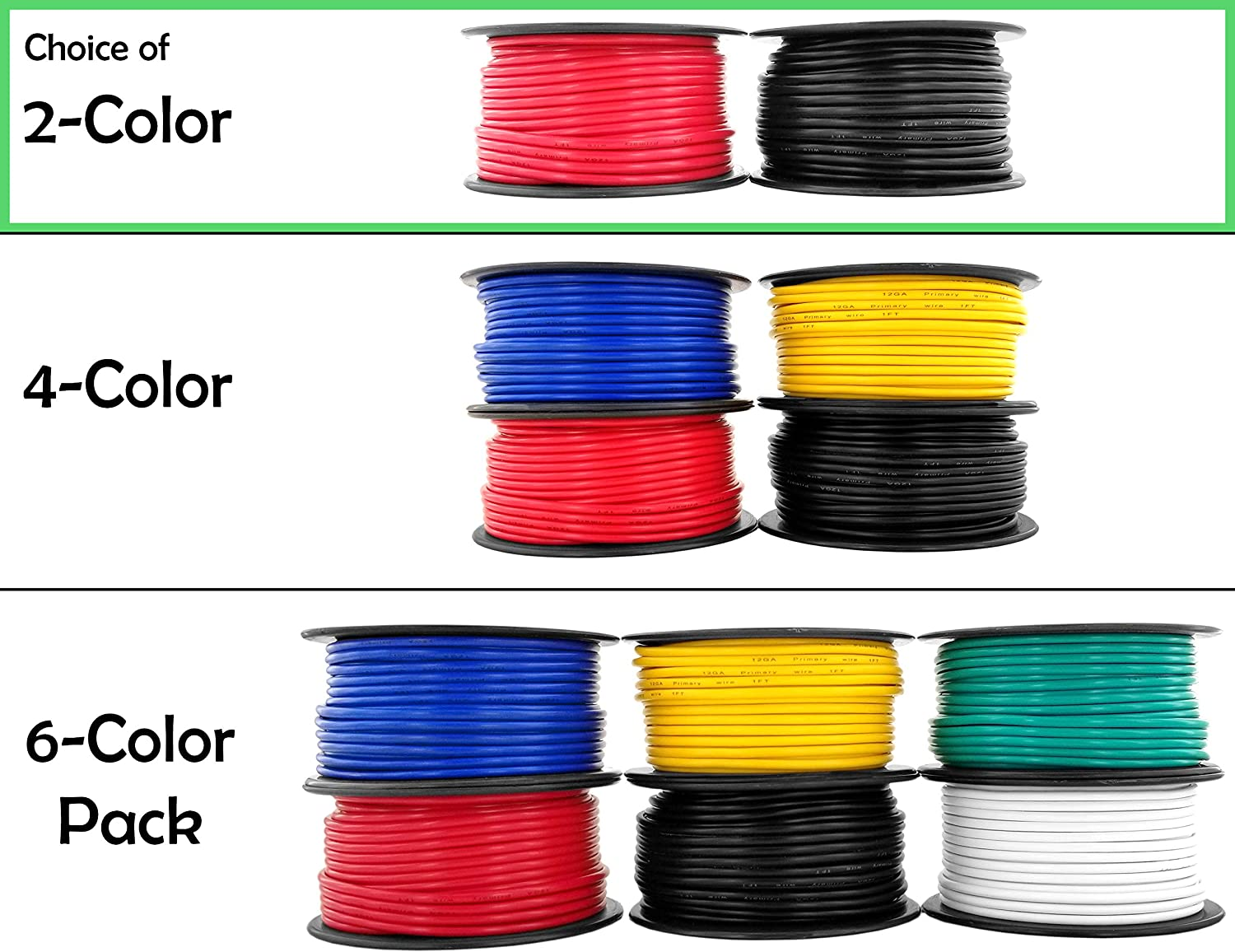 12 Gauge Copper Clad Aluminum Low Voltage Primary Wire 100 ft Red & Black (200 feet Total) for 12V Automotive Trailer Light Car Audio Stereo Harness Wiring (Also in 4 or 6 Color Combo)