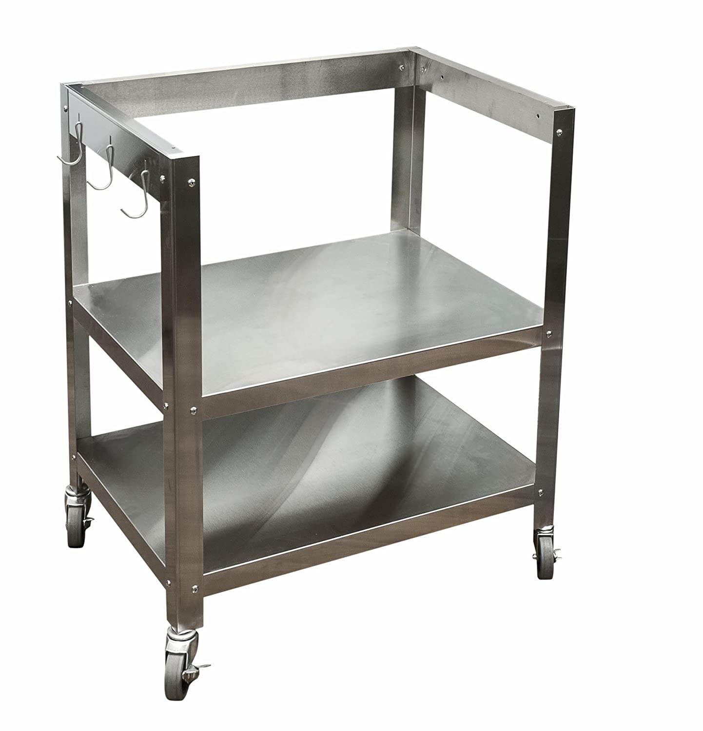 Kitchen cart metal - Amazon Com Danver Stainless Steel Kitchen Cart Without Top 30 Inch Kitchen Dining