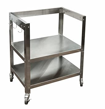 Danver Stainless Steel Kitchen Cart Without Top, 27 Inch