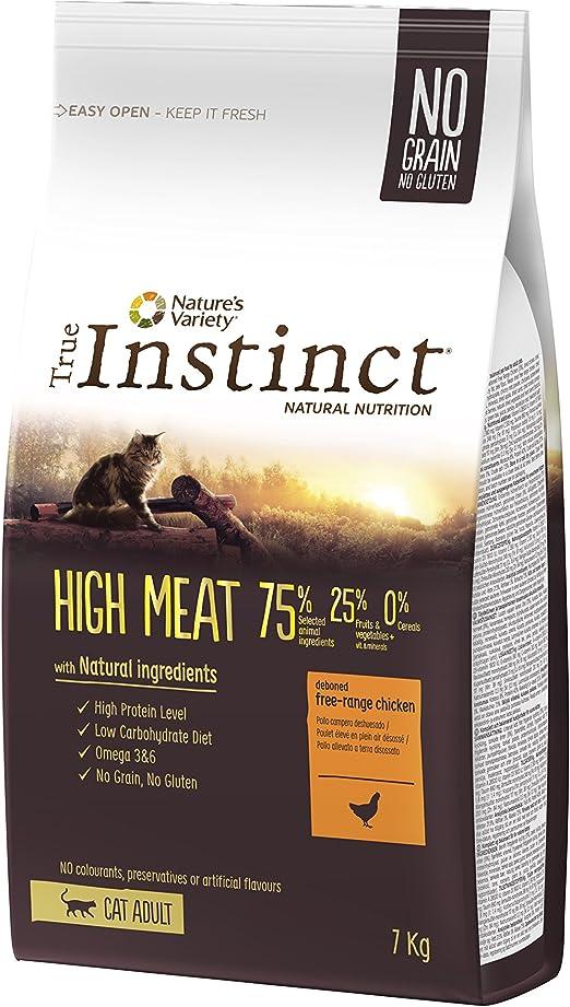 True Instinct High Meat Adult - Natures Variety - Pienso para Gato Adulto con Pollo - 7kg