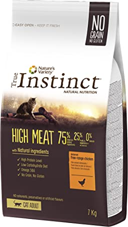 True Instinct High Meat Adult - Pienso para gato adulto con pollo deshuesado 7 kg: Amazon.es: Productos para mascotas