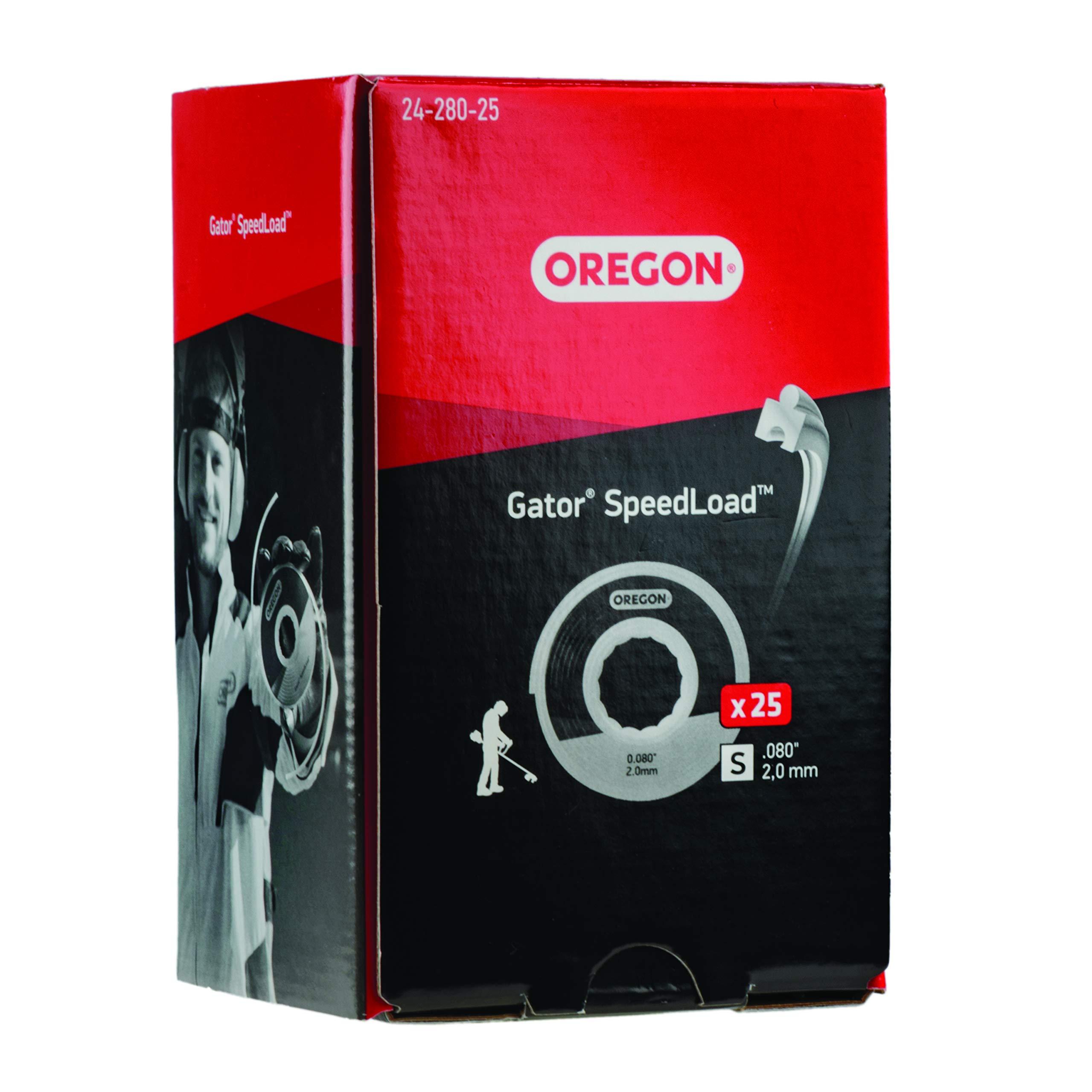 Oregon 24-280-25 Gator SpeedLoad Trimmer Line.080'' 25 Pack SM