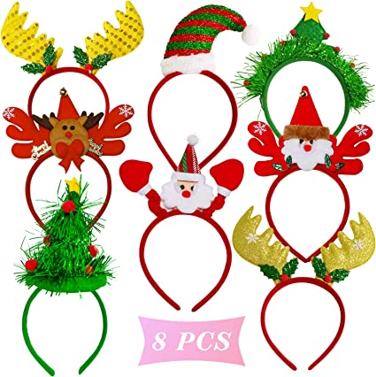 Christmas Elk Headband Hairband Kids Baby Hairhoop Party Xmas Decor Headwear LOT