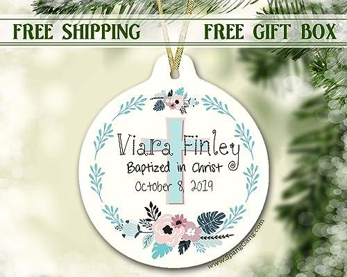 Christmas Christening.Girl Baptism Gift Ornament Christening Gift For Baby Girl Personalized Christmas Ornament