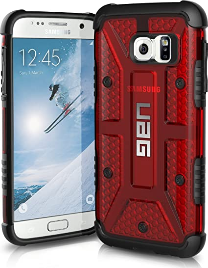 finest selection 4090f 60ddc UAG Samsung Galaxy S7 Feather-Light Composite [Magma] Military Drop Tested  Phone Case