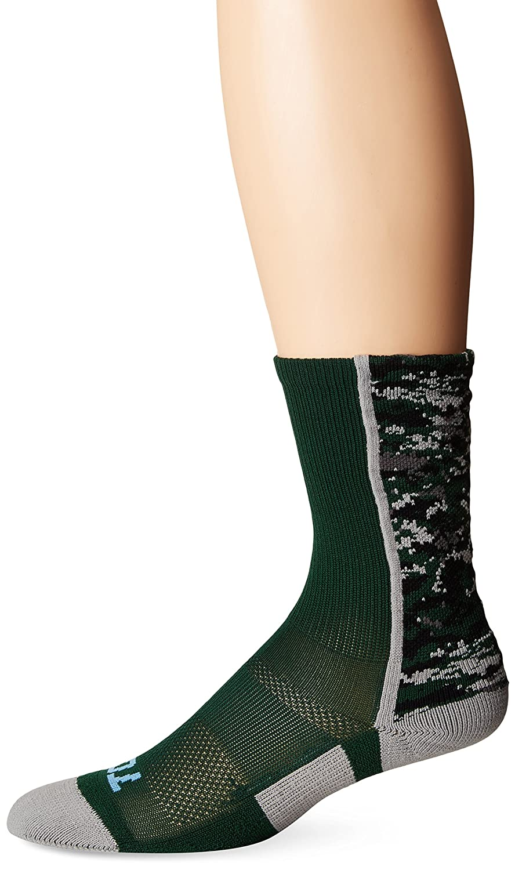 Twin City Digital Camo Crew Socks Dark Green Small
