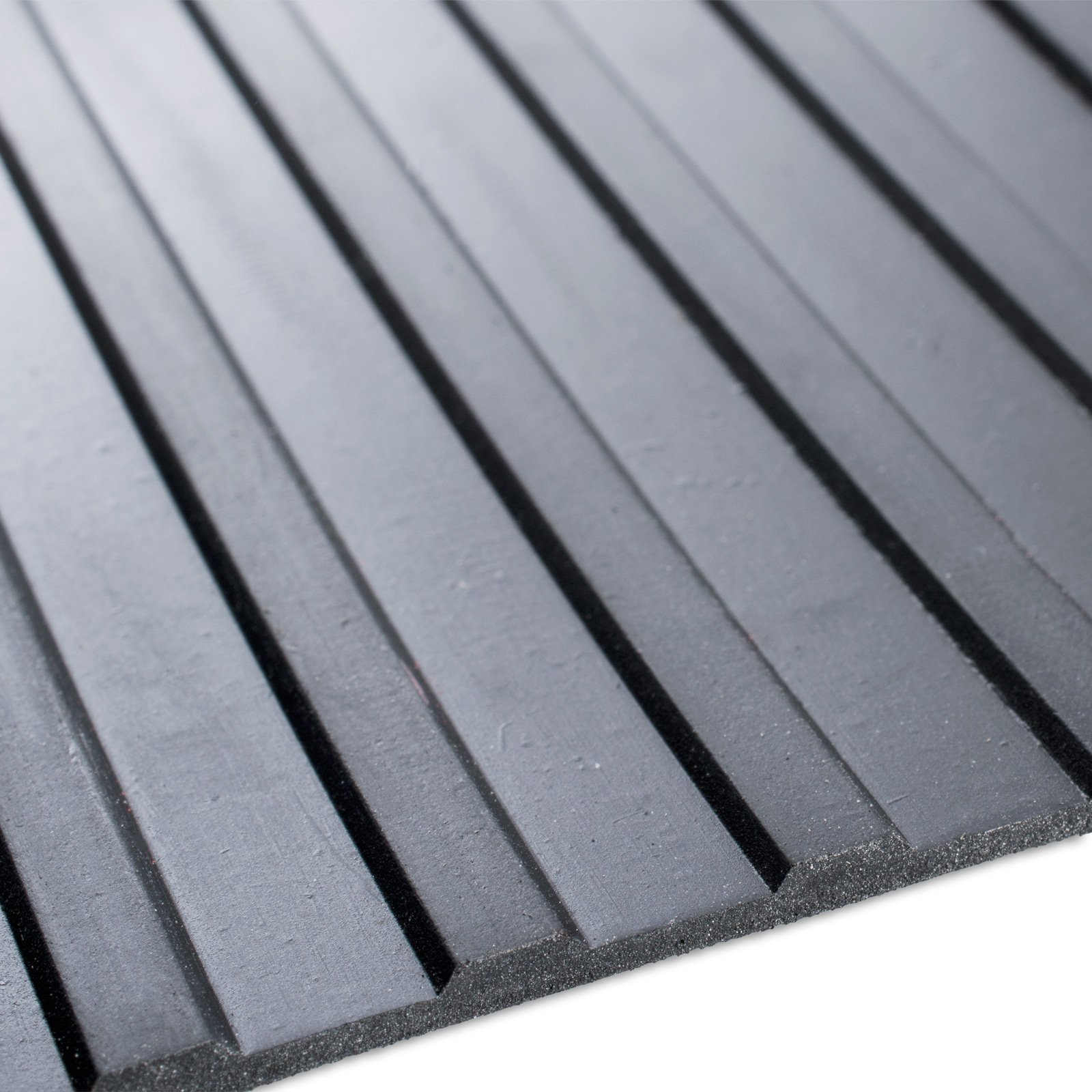 casa pura Rubber Floor Mat – Anti Slip Rubber Sheet   Suitable as Garage Floor Mat, Horse Stall Mat or Workbench Mat   Many Sizes to Choose from   Wide Ribbed   1/4'' Thick - 40'' x 4' by casa pura (Image #1)