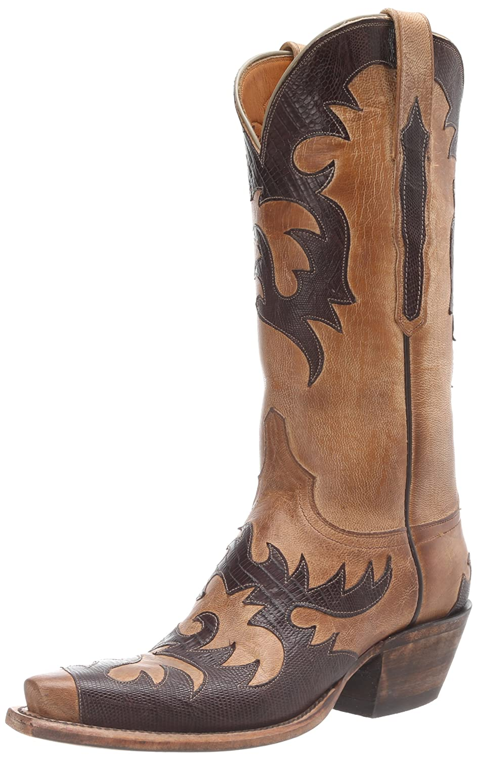 Lucchese Womens L4723 B0081UET6W 9.5 B(M) US|Pearl Mad Dog Goat
