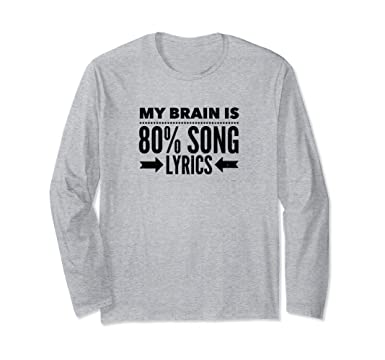 57e67a5b Unisex Retro Long Sleeve T Shirt Funny 80s Vintage Music Lovers Tee Small  Heather Grey