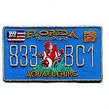 Florida Autokennzeichen FL USA US Bundesstaaten Patch Aufnäher Aufbügler 0610