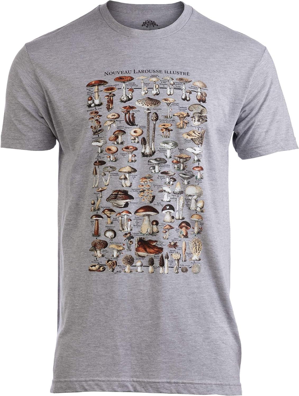 Vintage Mushrooms Illustration | Morel Hunter Shroom Nature Art Men Women T-Shirt