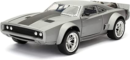 Amazon Com Jada Toys Fast Furious 1 24 Dom S Ice Charger Die Cast Car Toys For Kids And Adults Silver 98291 Toys Games
