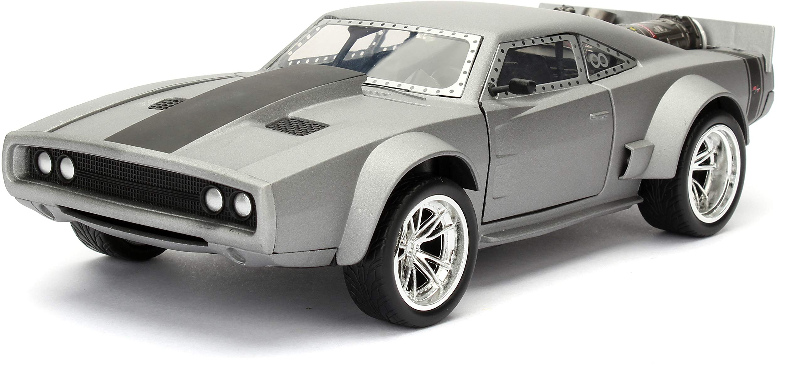 Jada Toys Fast & Furious 1:24 Dom's Ice Charger Die-cast Car, Toys for Kids and Adults, Silver (98291)