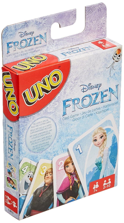 Mattel Games-UNO UNO Frozen, Juego de Cartas (Mattel CJM70)