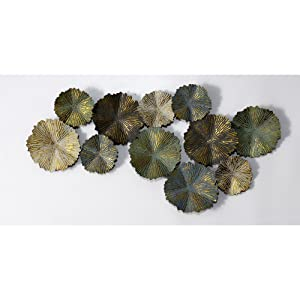 Craftter Matt Finish Sun Burst Circles Extra Large Metal Wall Art Sculpture Wall Decor and Hanging