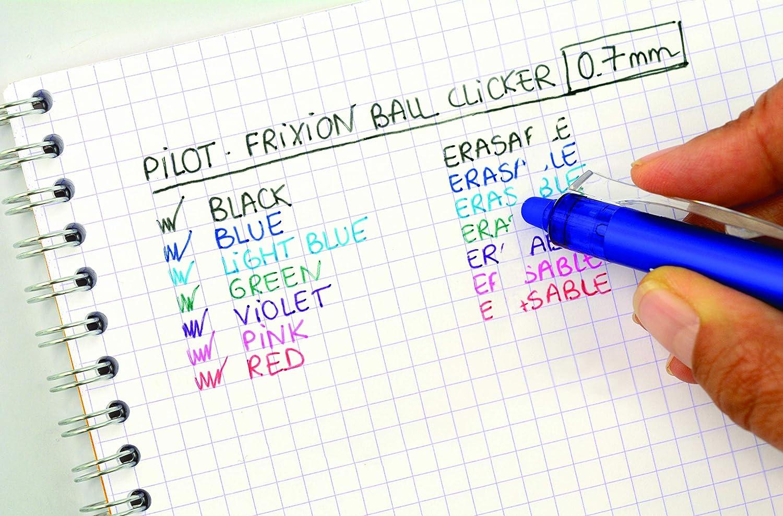 punto medio Pilot Spain Frixion Clicker color azul claro Bol/ígrafo tinta de gel