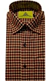 STC Men's Green Woolen Checkered Cottswool Winter Wear Full Sleeves Regular Fit Formal Shirt 0123