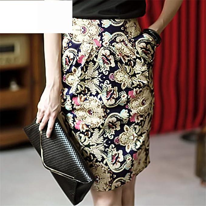 dd5bbd5c89e Eault Elegant Print Pencil Skirt Women 2016 New Spring Summer Faldas Vintage  Elegant Embroidery Knee Length