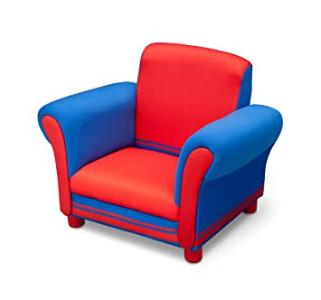 Delta Children Childrenu0027s Upholstered Chair (Blue And Red)