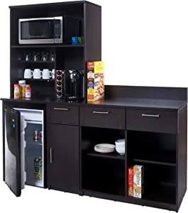Breaktime 3 Piece Coffee Break Lunch Room Furniture, Espresso (Includes Furniture Cabinets Only)
