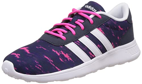 check out 88f2a a665c adidas neo AW4962 Women s Lite Racer Shoes, Collegiate Navy FTW White Shock  Pink