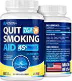 Quit Smoking Aid - Lung Cleanse & Detox Pills - Made in USA - Helps to Clear Lungs & Stop Smoking - Infused with Mullein…